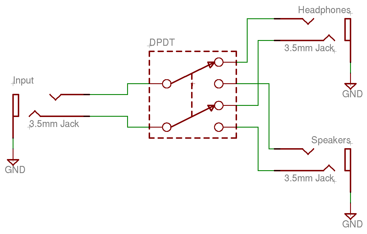 Spdt Switch Wiring Diagram Foot Momentary And Schematics Audio Output Selector Rh Kbarrett Com 4pdt